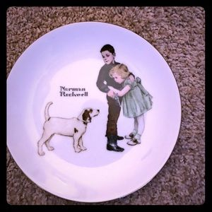 """Norman Rockwell Porcelain """"Big Brother"""" Deco Plate"""